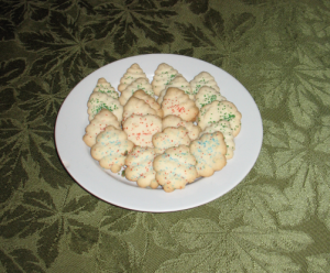 Spritz Cookies Baked and Ready