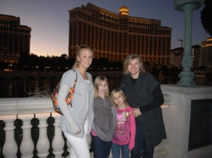 The Girls in Las Vegas While Dad Takes the Picture