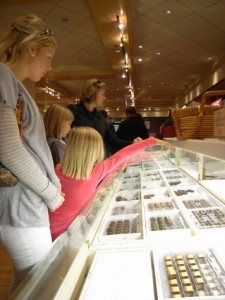 Buying Chocolates at Ethel M's