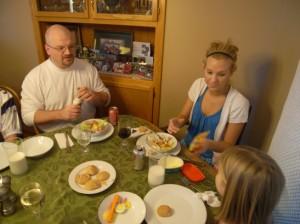 The GF Crew Eating Christmas Dinner