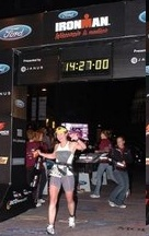 Patricia Johnsen Finishing the Ironman