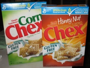 Two of the New Gluten-Free Chex Cereals