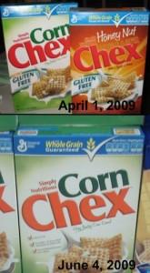 Corn Chex Box Comparison