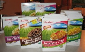 Erewhon cereals ready for tasting
