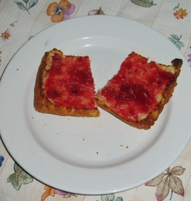 Yum! Jam on GF Toast
