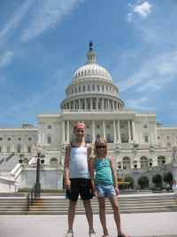 Girls at the US Capitol