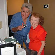 Jay Leno and Minnesota's Marjorie Johnson