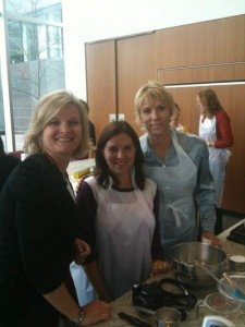 In Betty Crocker Portrait Kitchen (L-R) me, Amanda Carlisle, Shelley Gannon