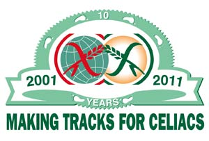 Logo for 2011 Anniversary Making Tracks for Celiacs